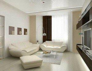 Белая гостиная 18 квадратов