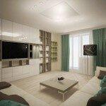 Дизайн гостиной 18 кв м с модульной стенкой
