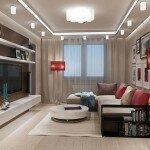 Дизайн гостиной 18 кв м с торшерами