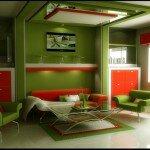 Дизайн гостиной 18 квадратов в стиле модерн