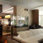 Дизайн гостиной, объединенной с кухней 18 кв м