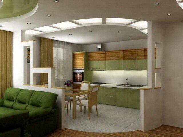 Дизайн гостиной с кухней в помещении 30 кв м фото