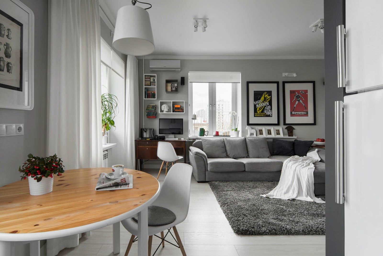 Дизайн интерьера 30 кв м кухни с гостиной фото