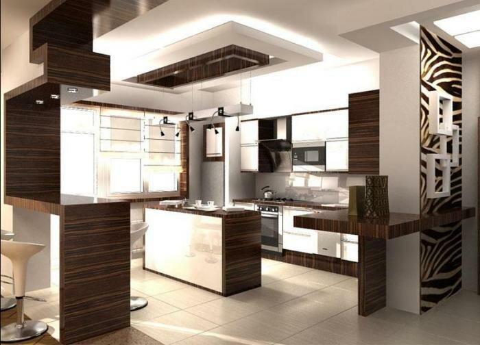 Дизайн интерьера гостиной с кухней 30 кв м фото