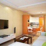 Дизайн кухни гостиной 18 квадратов
