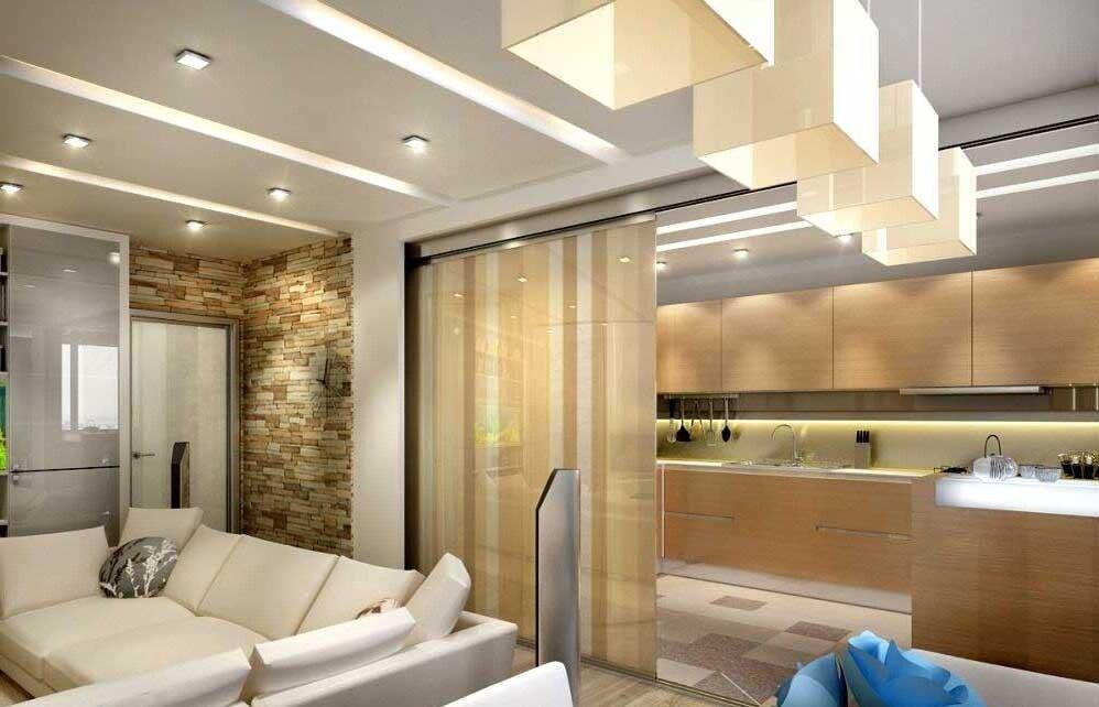 Дизайн кухни гостиной на 20 кв м