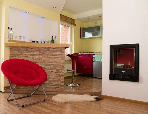 Дизайн интерьера гостиной с кухней на 30 квадратах фото