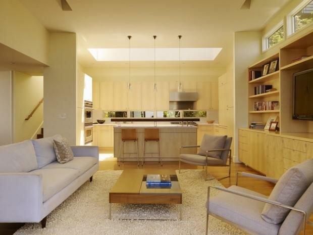 Дизайн на фото кухни гостиной 30 квадратов