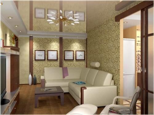 Дизайн небольшой по размерам гостиной