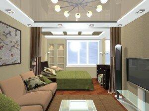 Дизайн узкой гостиной 18 квадратов