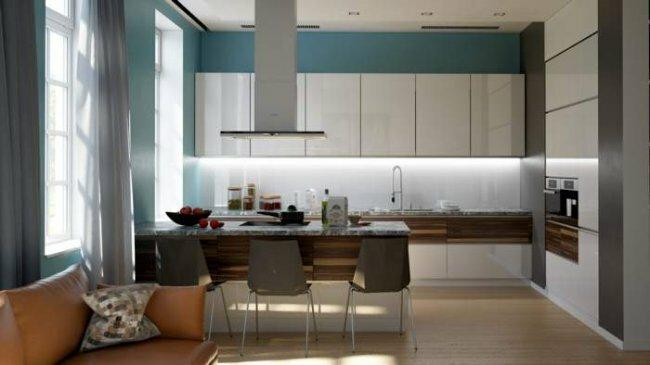 Фото дизайна интерьера 30 кв м гостиной с кухней