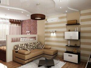 Функциональный дизайн гостиной 18 кв м