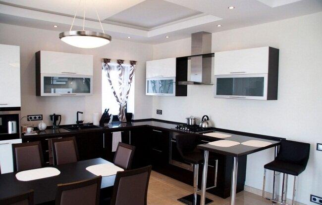 Гостиная столовая кухня на 30 кв м дизайн фото