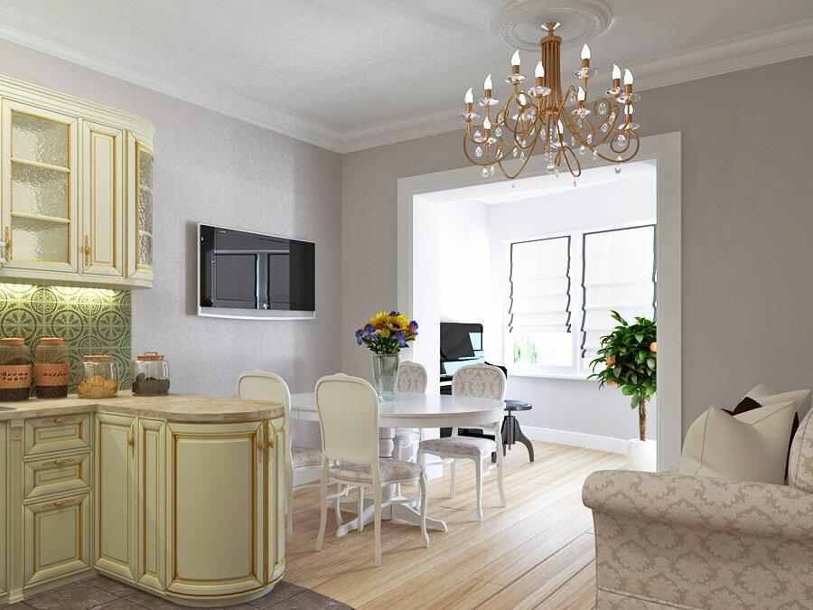 Интерьер кухни гостиной 20 квадратов