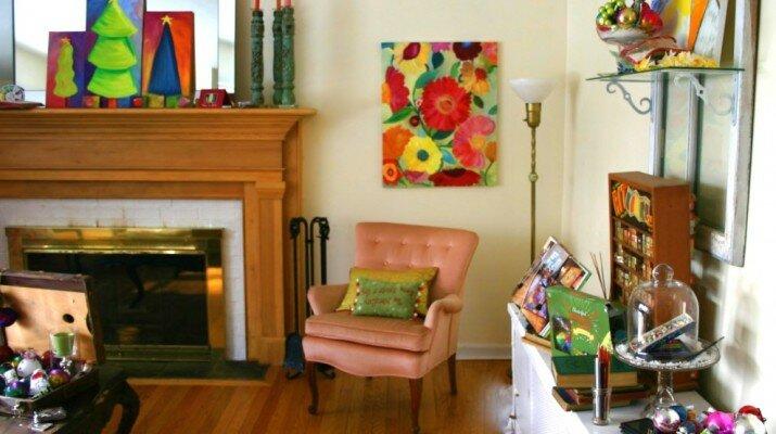 Картина в гостиной - интерьер