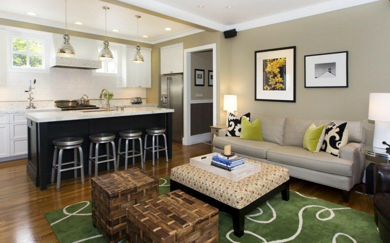 Ковер на полу гостиной кухни 20 квадратов