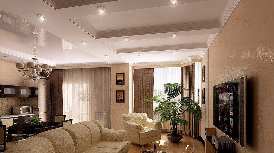 Кухня гостиная 30 квадратных метров фото дизайн