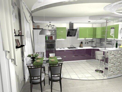Кухня гостиная на фото - дизайн на 30 кв м