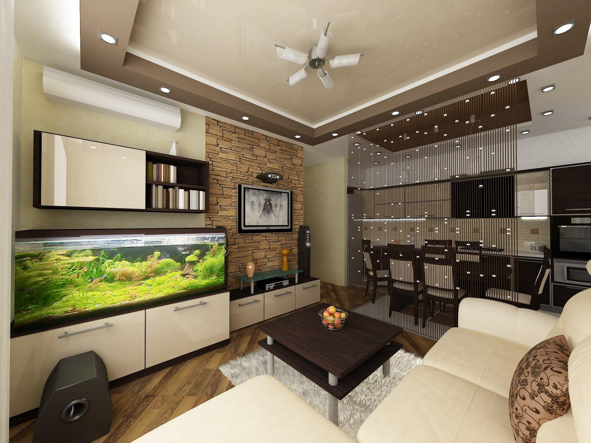 Идеи дизайна кухни-гостиной
