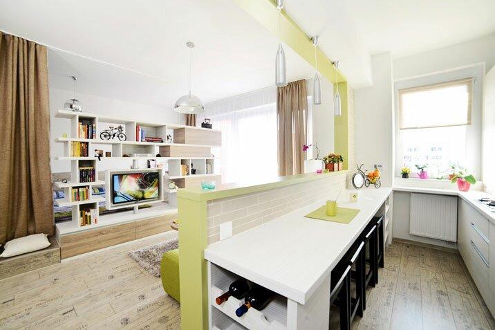 Кухня с гостиной площадью 30 кв м фото дизайн