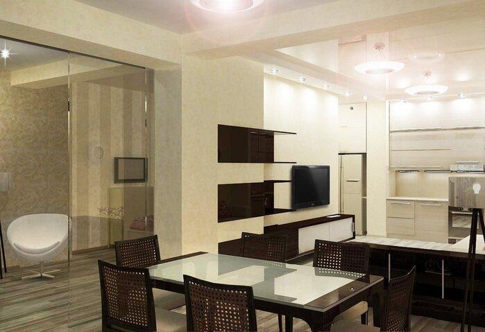 Кухня студио с гостиной зоной 20 кв м