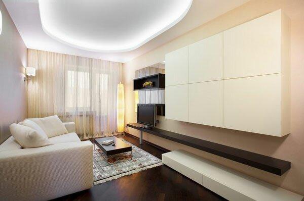 Минималистичный дизайн гостиной 20 кв м