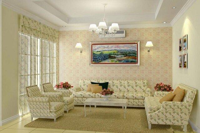 Освещение гостиной в стиле прованс