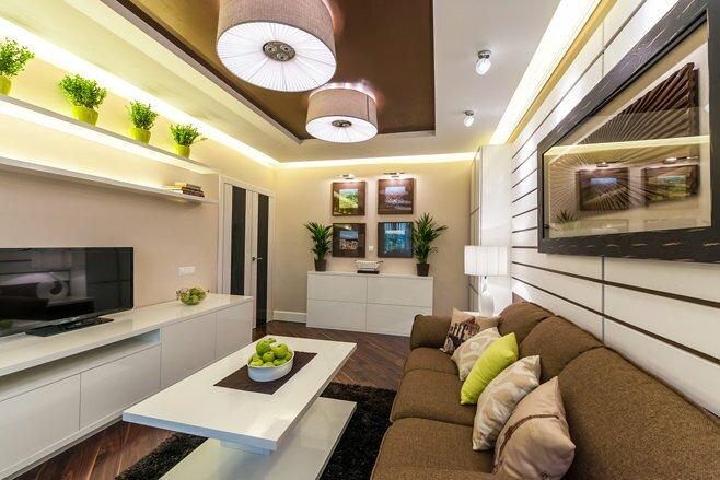 Отдельные световые акцеты в гостиной