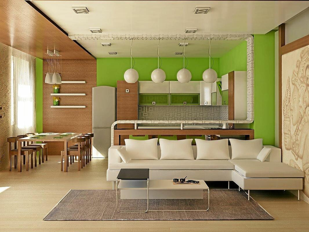 Идеи дизайна кухни с гостиной