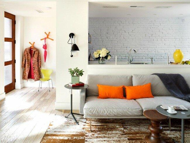 Ретро кухня гостиная на 30 квадратах дизайн фото