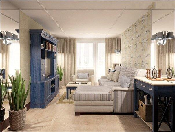 Синяя мебель в стиле прованс