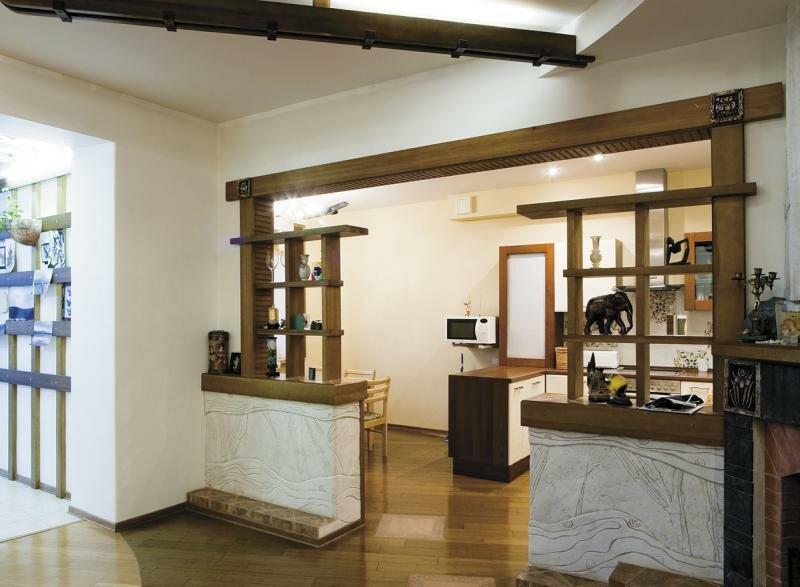 Совмещение кухни с гостиной на 30 кв м дизайн фото