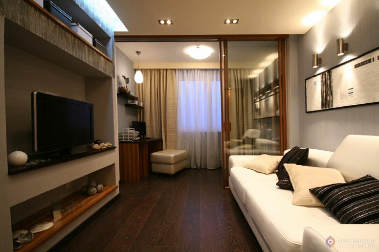 Дизайн спальни гостиной 20 кв.м