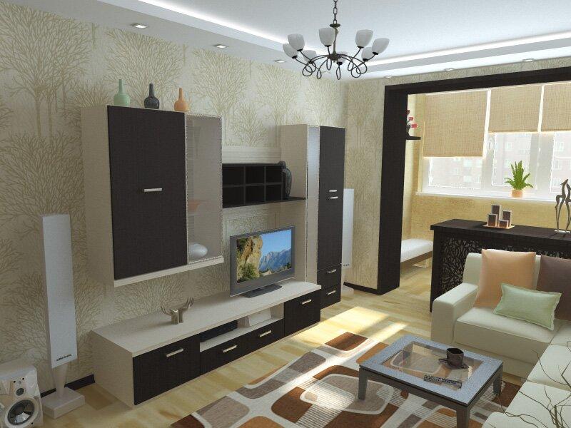 Дизайн комнаты 21 кв.м спальня гостиная фото