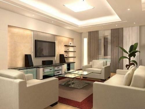 Свет в дизайне гостиной 20 кв м