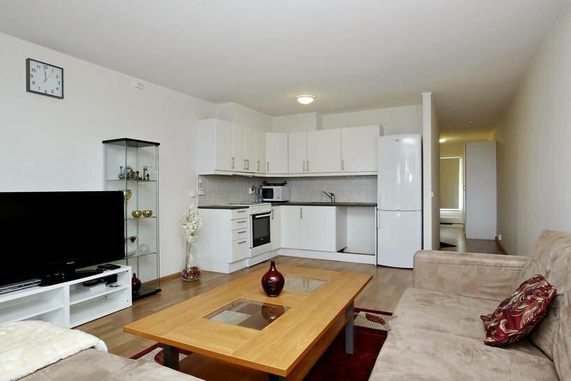 Угловая кухня в совмещении с гостиной 20 квадратов