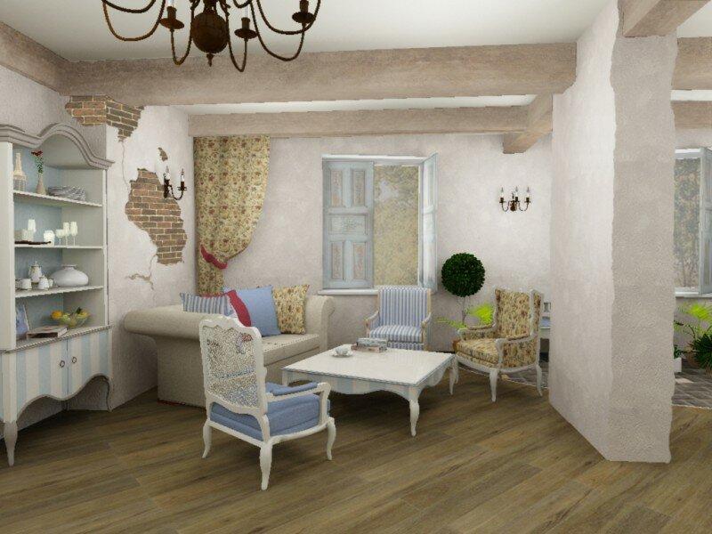 Вариант мебели в стиле прованс