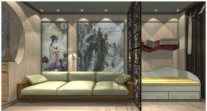Зонирование в дизайне гостиной 18 кв м