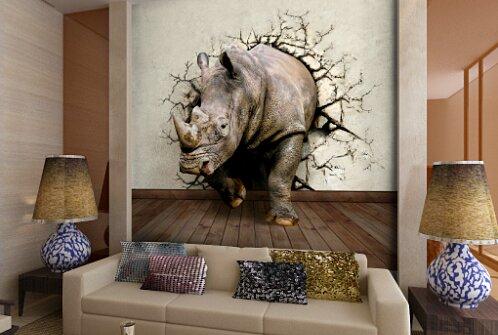 3D изображение в интерьере гостиной