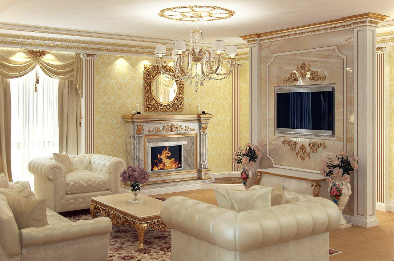 Классический стиль гостиной фото