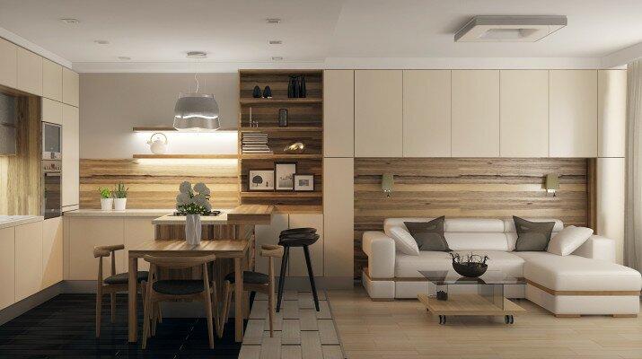 Кухня гостиная в новых направлениях