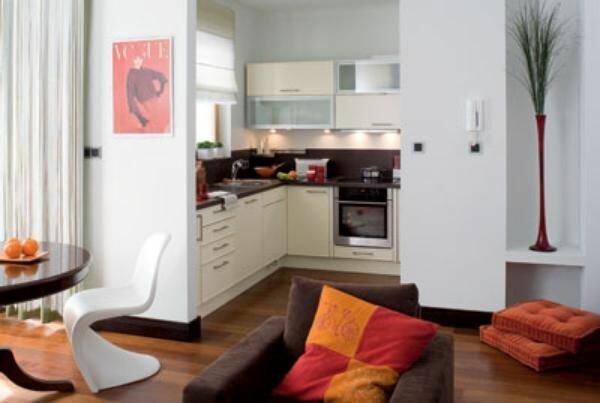 Кухня сделанная с гостиной