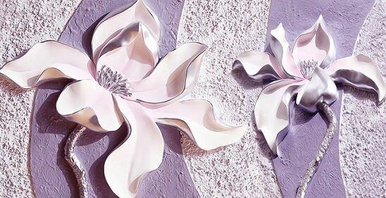 Нежные цветы на 3Д обои
