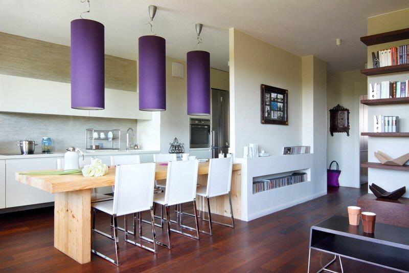 Обеденная зона в кухне как элемент зонирования