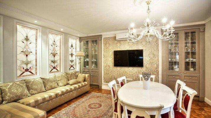 Оформление гостиной в красивом классическом стиле
