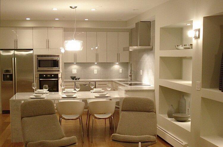 Правильное освещение кухонной зоны