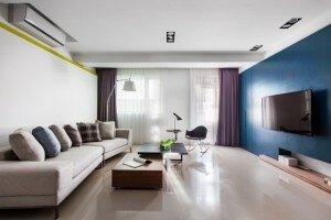 Просторная гостиная в минималистическом стиле