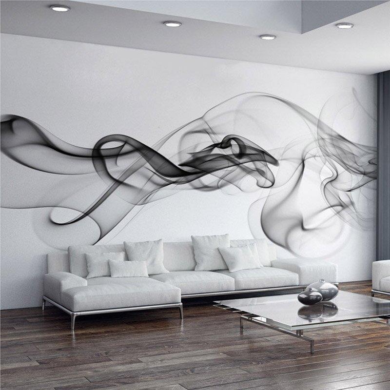 Реалистичный дым на стене в гостиной