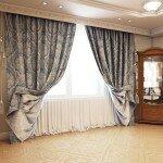 Современный дизайн штор для гостиной фото