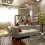 Выделение в гостиной зоны сна